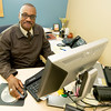 Roderick May, acting manager of the Neosho National Fish Hatchery, works in his office on Wednesday in Neosho. May, who has been at the Neosho hatchery for 17 years, hopes to become permanent manager of the hatchery.<br /> Globe | Laurie Sisk