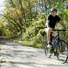 Joplin Trails Coalition boardmember Robert Blackford rides along the Ruby Trail near Carthage on Thursday.<br /> Globe | Laurie Sisk
