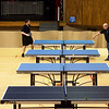 Globe/Roger Nomer<br /> Members of the Joplin Table Tennis Club practice on Monday at Memorial Hall.