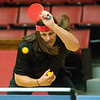 Globe/Roger Nomer<br /> Sage Crane makes a shot while practicing on Monday with the Joplin Table Tennis Club at Memorial Hall.