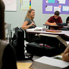 Globe/Roger Nomer<br /> Kristi Alford teaches a junior English class on Thursday at Carl Junction High School.