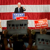 Globe/Roger Nomer<br /> Republican vice presidential candidate Gov. Mike Pence gives a speech at the Springfield Exposition Center on Tuesday.