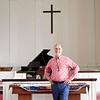 BEN GARVER — THE BERKSHIRE EAGLE<br /> Rev. Joel Huntington of South Congregational Church, UCC, Pittsfield, Massachusetts. Monday, May 18, 2020.