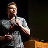 BEN GARVER — THE BERKSHIRE EAGLE<br /> Craig Scott speaks at Lee Middle and High School about his sister's death and his survival of the 1999 Columbine school shooting, Wednesday, March 13, 2019. A powerful speaker,Scott speaks to the inherent value of human life, one's own life and the pursuit of positive influence for oneself and others. Scott witnesses the worst of the shooting in the library where he lost 2 of his friends in addition to his sister.