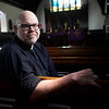 BEN GARVER — THE BERKSHIRE EAGLE<br /> Rev Erik Karas of Christ Trinity Church in Sheffield is a former volunteer firefighter and has offered  to help Sheffield firefighters with trauma from the fatal fire, Thursday, March 14, 2019. He said the community is still coming to grips with the reality of the situation, let alone process grief.