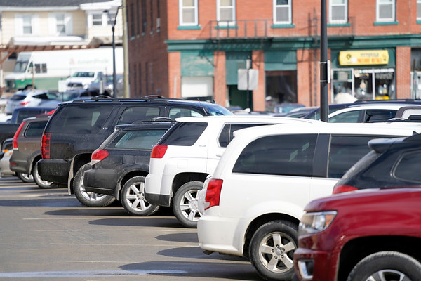 BEN GARVER — THE BERKSHIRE EAGLE<br /> The First Street Parking Lot in Pittsfield fills with paid parking, leaving permit holders having to look for a parking space, Monday, March 11, 2019.