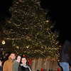 Lynnfield, Ma. 11-20-17. Devid Gomez, Daniella, Rodreguez, and Claudia Escobar having theipicture taken at the recently lit Christmas Tree at Market Street.