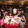 Gregg House kids packed St. Michael's Hall for the annual Thanksgiving luncheon put on by the Lynn firefighters Local 739.