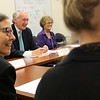 LYnn, Ma. 8-14-17. U S Senator Edward Markey during a discussion with Lori Berry, Reverand Jane Gould, and Emily Johnson during his visit to the Lynn Community Helath Center.