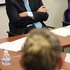 Lynn, ma. 8-14-17. U. S. Senator Edward Markey listens to Emily Johnson while on his tour of the Lynn Community Helath Center.