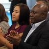 Lynn, Ma. 8-3-17. Two Pay for Success Project students, Andie Salvador Bonilla, and Jean Marie Kabukanyi, spoke at the launch of the program at 10 Church Street.