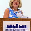 Lynn, Ma. 8-3-17. Birgitta Damon, Chielf Executive Officer ynn Economic Opportunity Inc. speaking at Pay for Success Project Launch New English for Advancement progarm at 10 Church Street today.