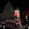 Lynn, Ma. 12-24-17. Kaleigh St. Ives, right and Haley Soloan in this year's Christmas parade.