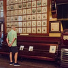 Sept. 16, 2017. Grand Army of the Republic Museum tours, Lynn. Mark O'Malley checks out photos of Civil War veterans.