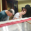 Sept. 16, 2017. Grand Army of the Republic Museum tours, Lynn. Lenny Panzini, left, and Kathy Bertrand look at World War I era artifacts.