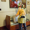 Sept. 16, 2017. Grand Army of the Republic Museum tours, Lynn. Joan Zardus checks out some Civil War-era historical items.