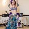Belly dancer Celia performs at LEO's Greek Night fundraiser at Volunteer Yacht Club in Lynn.