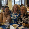 From left, Peter Em, Cristal Hernandez and Nancy Nugent attended LEO's Greek Night fundraiser at Volunteer Yacht Club in Lynn.