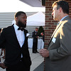 Lynn, Ma. 8-31-17. Anthony Seaforth, left, founder of No Ceilings Movement, and Jay Ash, Secretary of Housing and Economic Development talk at the Fifth Annual Celebrate Literacy Day.