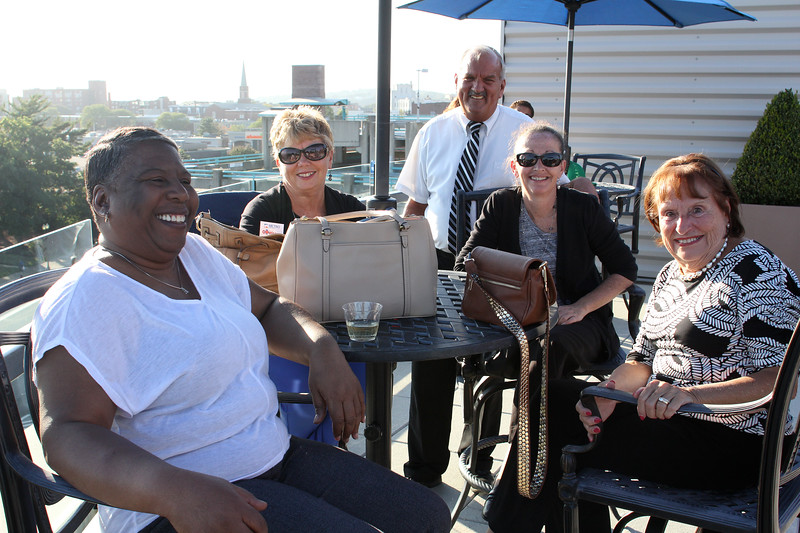 Lynn, Ma. 8-31-17. Members of St. Jean's Credit Union were at the Fifth Annual Celebrate Literacy Day. From left to right are: Esther Cheltenham, Donna Sharp, Danny Lemenager, Ann Tilt, and Peggy Boyle.