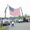 09/16/2017. Military and Veterans Appreciation Day, World Series Park, Saugus. A large American display welcomed event attendees at Word Series Park.