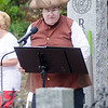09/16/2017. Round Hill Historical Site, Saugus. Bicentennial anniversary of the incorporation of Saugus and time capsule burial. Dressed for the occasion, Tom Raiche reads a piece about the incorporation of Saugus in 1815.