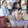 Sept. 16, 2017. Lynn Heritage Park. Lynn World Music Festival. Javier Vivas, left, and Pilar Zorro of the group Con Sabor Colombianos, play percussion instruments during their performance.