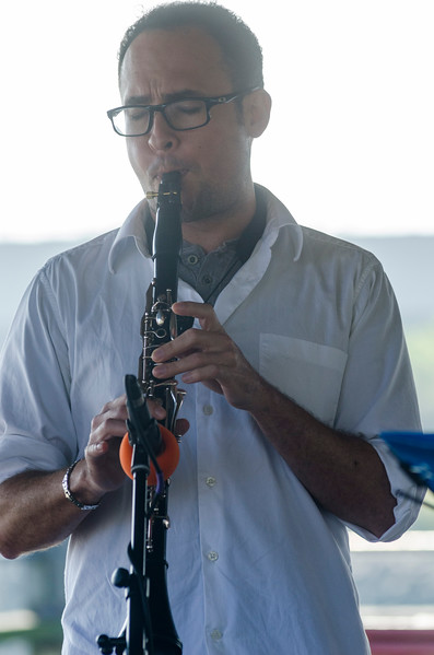 Sept. 16, 2017. Lynn Heritage Park. Lynn World Music Festival. Javier Vivas of the group Con Sabor Colombianos, plays the clarinet during the band's performance.
