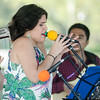 Sept. 16, 2017. Lynn Heritage Park. Lynn World Music Festival. Gaby Cotter was the singer for the group Con Sabor Colombianos.
