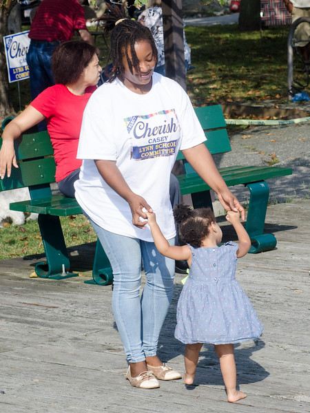 Sept. 16, 2017. Lynn Heritage Park. Lynn World Music Festival. Cherish Casey, left, dances with Zia Thomas.