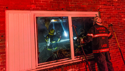 WINCHENDON - Crews from several towns battled a 3rd Alarm fire at the Lucky Dragon Restaurant at 222 Baldwinville State Rd. Monday February 19, 2018 [Photo/Jim Marabello]