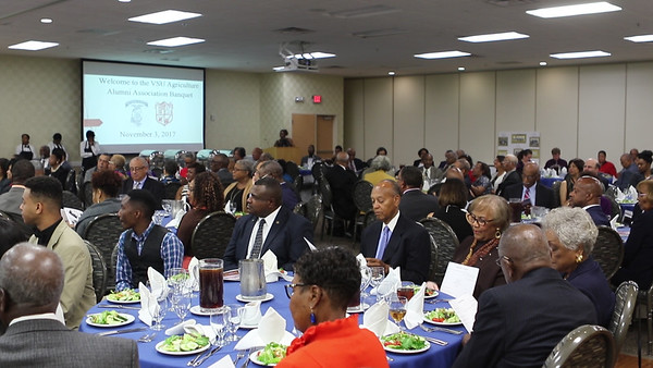 Attendees at the VSU Agriculture Alumni Banquet Friday night where 62 NFA and NHA alumni were honored.