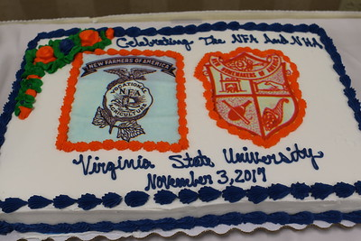 Cake celebrating the New Farmers of America and New Homemakers of America alumni reunion Friday night at Virginia State University.