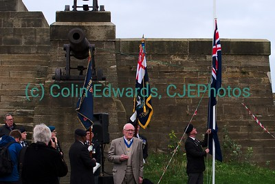 Toast to Admiral Lord Collingwood, Collingwood's Monument, Tynemouth, England