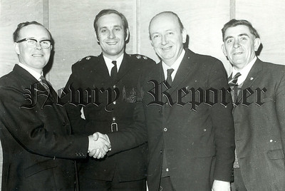 Warrenpoint Fire Service Mr William McKinley, Mr C Black co-officer, Mr W. McCabe and Mr P. Rice
