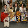 """Cares at Christmas challenge arranged in conjunction with """"Business in the Community NI', Daisy Hill Hospital Staff generously doninated all items for Womens aid Newry. in picture, Mairead and Gillian,(Womens Aid), Dorothy Morton and Andrina Lambe,(Hotel Services)."""