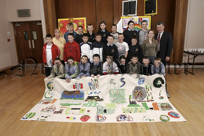 P7 pupils from St Patricks PS Newry,  and pupils from Scoil Mhuire Co. Monaghan who took part in a Cross Border exchange project organised by Cooperation Ireland. 05W16N12