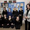 Amanda Hughes, Irish Sri Lanka Trust, pictured with pupils S1 and S2, Rathore School Newry at the Display in the school,Tsunami Appeal