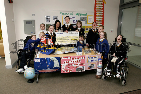 The Pupils and Teachers of Rathore School Newry have presented £2,210 to the Irish Sri Lanka Trust Fund, Amanda Hughes accepted the cheque on Monday last. The money was raised at a non uniform day and loose change collection.