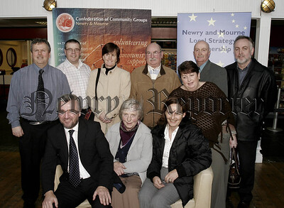 Confederation of Community Groups Annual Training awards at the Quays Omniplex on Wednesday last,group from the Martins Lane, Meadow/Armagh Rd Area who received Training Awards