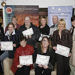 Confederation of Community Groups Annual Training awards at the Quays Omniplex on Wednesday last,group from the Greater Linnen Hall Area Newry who received Training Awards