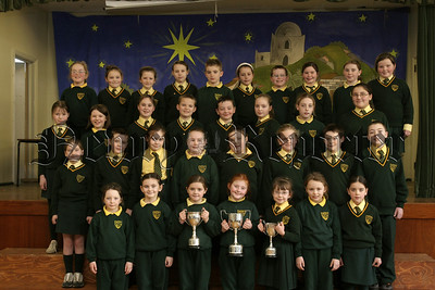 Success at Warrenpoint Feis, The Choir from St Patricks PS Hilltown were winners of the Primary School Choir under 12years and Church Music under 12 years. The pupils also won the Music Centre Perpetual Challenge Cup for Recorder Group Unison.