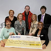 Customs And Excise,(VAT) Newry staff fundraisers have raised money for local charities, Fundraising night in Newry Golf Inn, Cheque to SAH for £3030, in picture, Lorainne Mc Manus, Barbara Keenan, Lilian Patterson, Garry Heaney,(Golf Club), Tom Brennan, Denise Mc Kay, Fiona Kieran, (SAH).