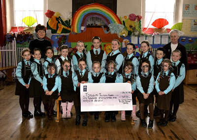 Pupils from St Clare's Convent PS Newry have collected £1165 for the Trocaire Tsunami Appeal, also in picture, Sr Mercedes, Principle, Ardina Rafferty, (Charities Co ordinator).