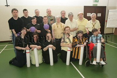 Pictured are Members of Crossmaglen SEC and members of the Laurels Centre Newry who took part in a skittles tournament as p[art of the Fitness for All programme. 07W24N2