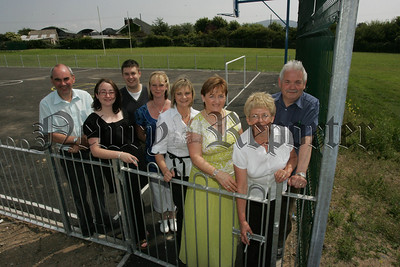 Pictured at the opening of a new Multi-purpose play area at Dromintee are Cllrs, Packie McDonald, Gearldine Donnelly and Anthony Flynn along with members of the Dromintee Residents Group and Margaret Taylor from Taylors Civil Engineering Ltd. 07W24N23