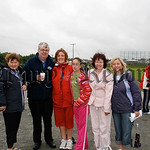 Paddy Duffy and these ladies did a few laps of Frank Curran park in aid of Cancer Research, 07W25N71
