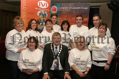 Michael Carr (mayor) picture with N&M Volunteers celebrating Volunteers Week in Bellinis. 07W24N53