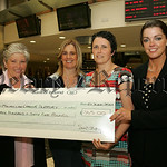 Martha McGrath from Macmillan Cancer Support recieves a cheque from Sandra McIlroy for �365 the proceeds of a celebration evening  which was held to signify thend of her Treatment for Cance ...