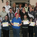 Pictured are trainees from Clanrye Employment and Training who recieved certificates for completion of their OCN in Lifeskills, delivered by opportunity Youth. Included in picture are peer e ...